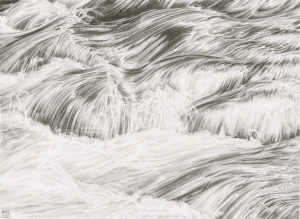 Water/Flow/River/Rapids/Dart/Newbridge/Dartmoor/Devon/NPA/Drawing/Graphite/Pencil/Nature