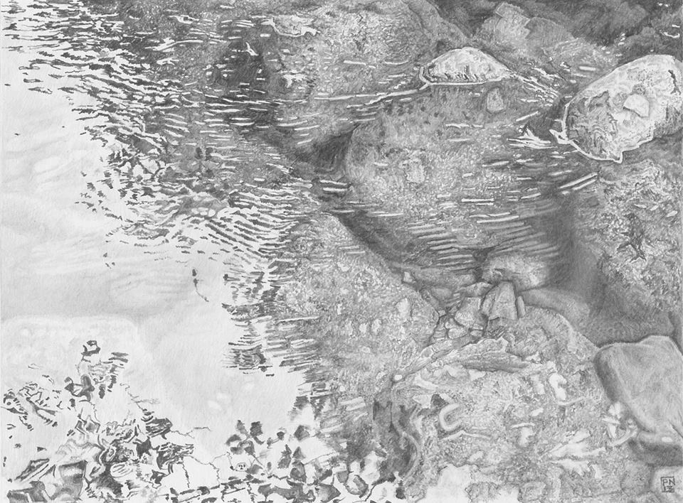 boulders/water/river/reflection/surface/blackandwhite/texture/dartmoor/devon/Dart/river/flow