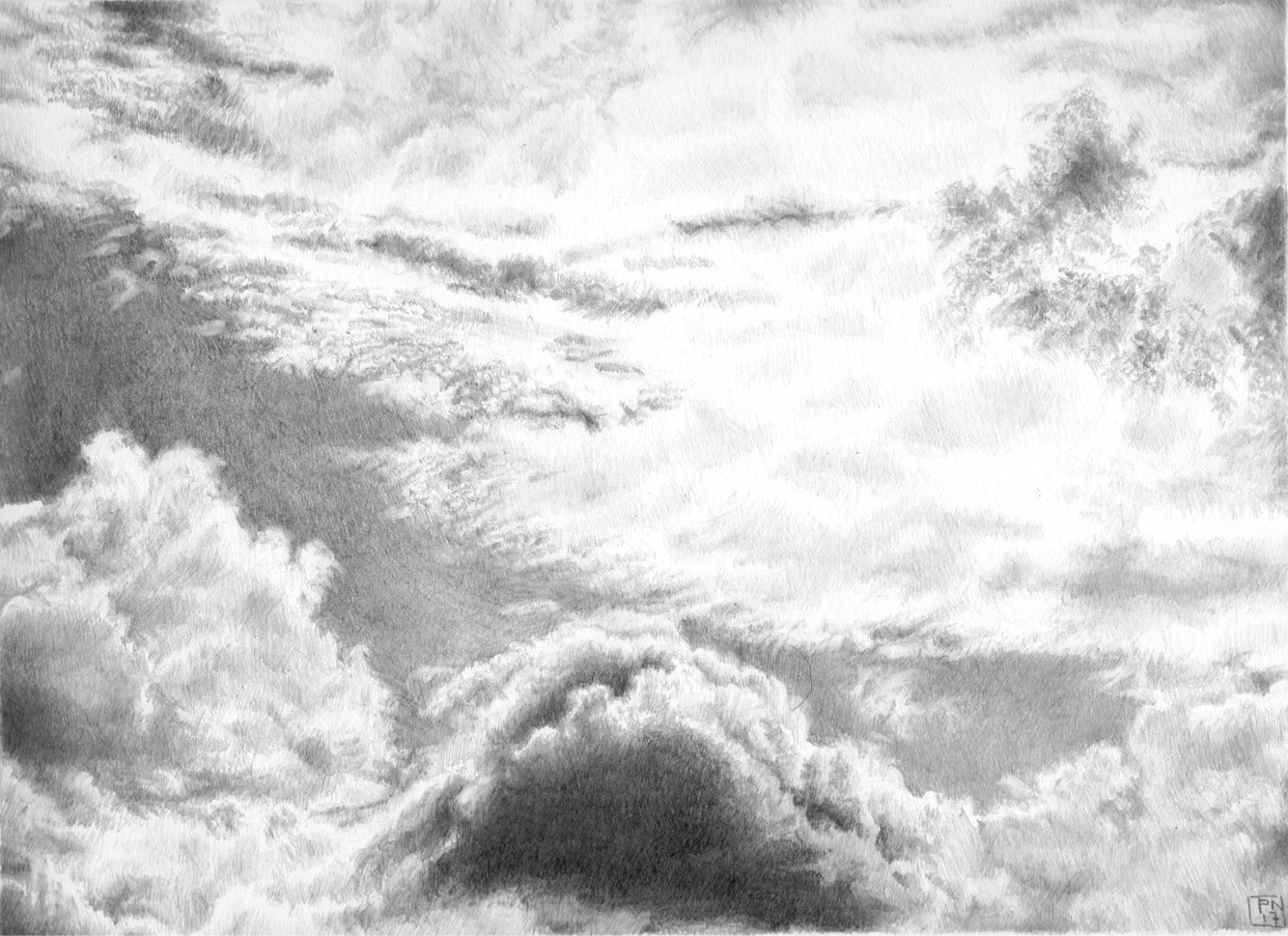 Cloud Study towards Ridge Hill