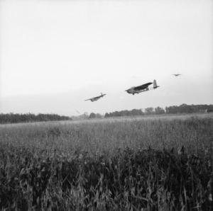 Horsa Gliders landing in Normandy